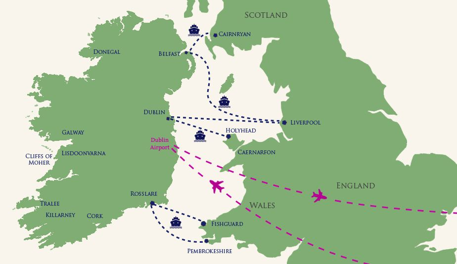 Donegal Map Of Ireland.White S Tours Hotels Irish Tour Operators Group Travel Deals